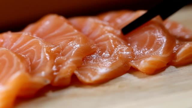 chopstick with sashimi, Japanese food