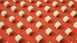 Choreographed Cubes LOOP (coral)