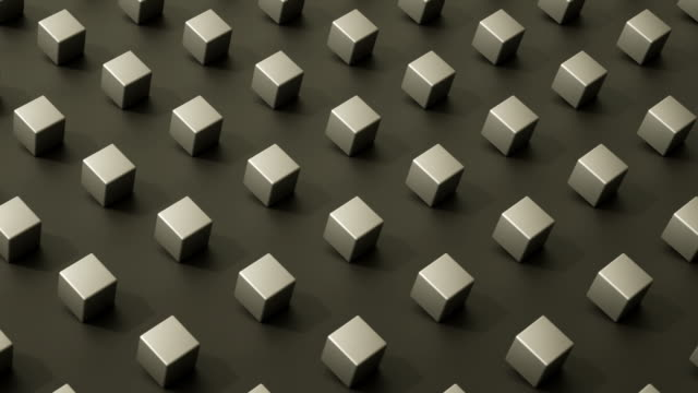 vídeos de stock, filmes e b-roll de cubos coreografados loop (prata) - formas geométricas