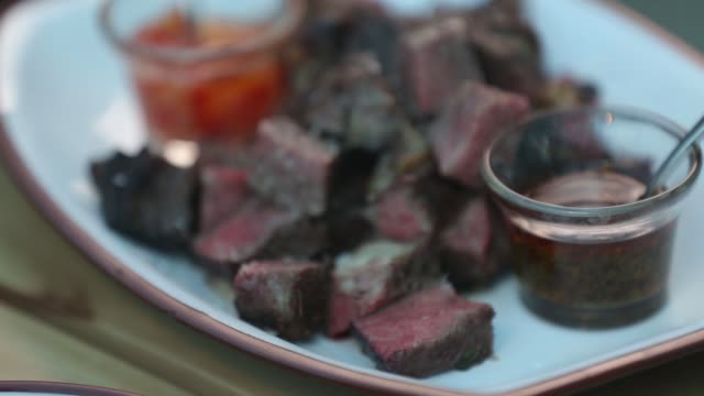 chorizo and skirt steak meat - chorizo stock videos & royalty-free footage