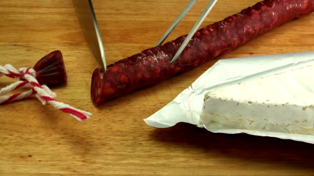 chorizo sausage & cheese - chorizo stock videos & royalty-free footage