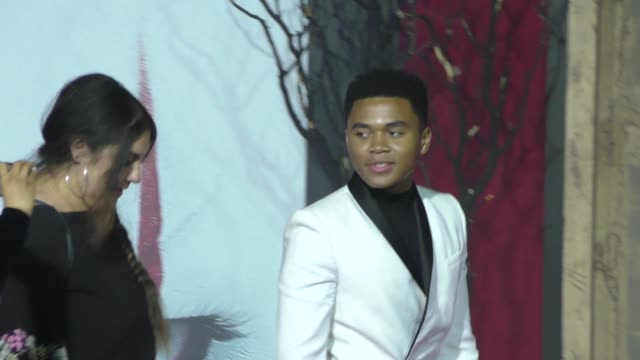 chosen jacobs outside the it 2 premiere at bruin theatre in westwood in celebrity sightings in los angeles - bruin theater stock videos & royalty-free footage