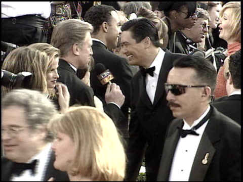 chow yunfat at the 2001 academy awards at the shrine auditorium in los angeles california on march 25 2001 - 73rd annual academy awards stock videos & royalty-free footage