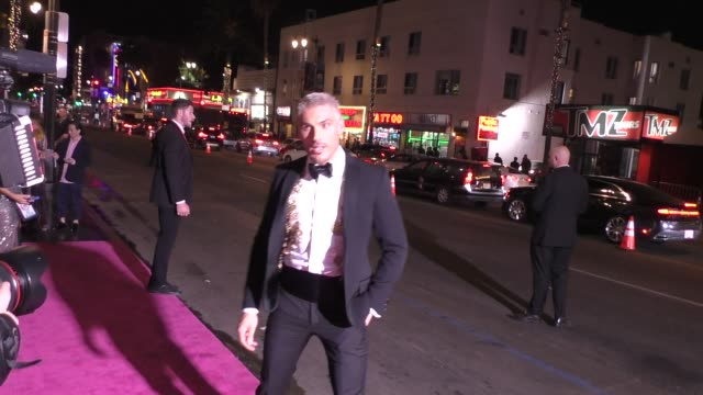 chris appleton arriving to the american influencer awards at dolby theatre in hollywood in celebrity sightings in los angeles - appleton video stock e b–roll