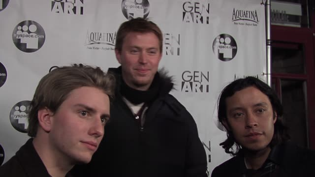 chris barnett, sean covel, efren ramirez on working on their documentary film �after school�, and coming to sundance 2 years ago with napoleon... - documentary film stock videos & royalty-free footage