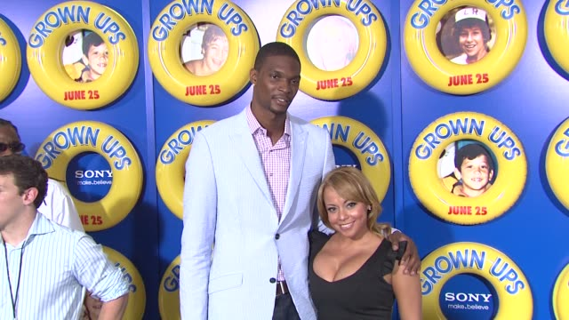 Chris Bosh and Adrian Williams at the Special Screening of 'Grown Ups' at New York NY