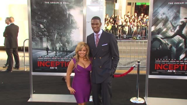 Chris Bosh at the 'Inception' Premiere at Hollywood CA