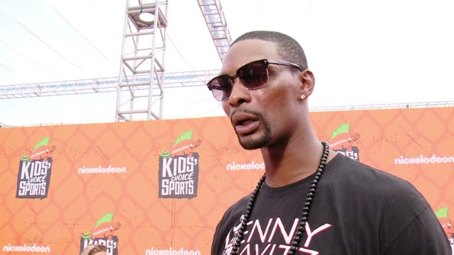 INTERVIEW Chris Bosh at the Nickelodeon Kids' Choice Sports Awards 2016 at UCLA's Pauley Pavilion on July 14 2016 in Westwood California