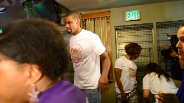 """Chris Bosh attends The 5th Annual """"Christmas with Chris Bosh"""" with Santa Bosh's Workshop and 200 Miamiarea youth at Game Time The Shops at Sunset..."""