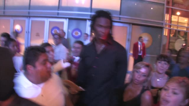 Chris Bosh leaving the Staples Center in Los Angeles at the Celebrity Sightings in Los Angeles at Los Angeles CA
