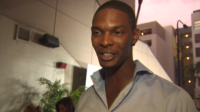 Chris Bosh on being a part of the night why giving back is important to him if he's good at bowling what playing for the Miami Heat means to him how...