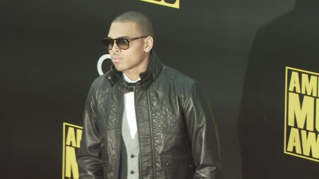 chris brown at the 2008 american music awards at los angeles ca - 2008 stock videos & royalty-free footage