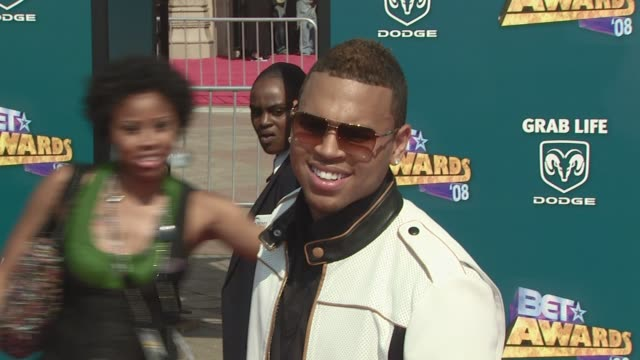chris brown at the 2008 bet awards at los angeles california - 2008 stock videos & royalty-free footage
