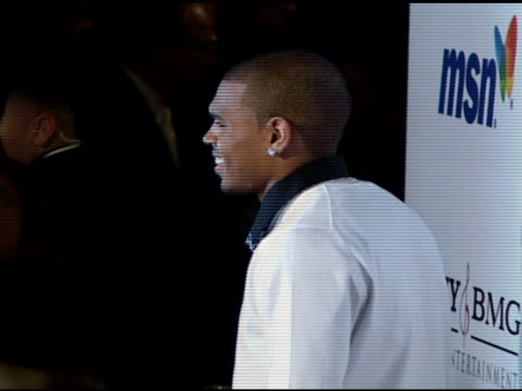 chris brown at the clive davis 2008 pregrammy awards party at null in beverly hills california on february 9 2008 - 2008 stock videos & royalty-free footage