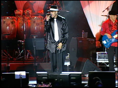 chris brown performs at the clive davis' pregrammy awards party concert at the beverly hilton in beverly hills california on february 7 2006 - pre party stock videos and b-roll footage
