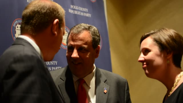 chris christie held a private vip meet and greet with iowa republicans exclusive video i was the only person allowed to film - meet and greet stock videos and b-roll footage