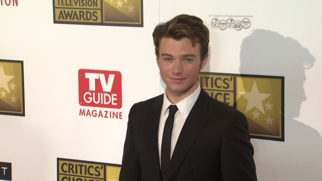 chris colfer at 2012 critics' choice television awards chris colfer at 2012 critics' choice television aw at the beverly hilton hotel on june 18 2012... - chris colfer stock videos and b-roll footage