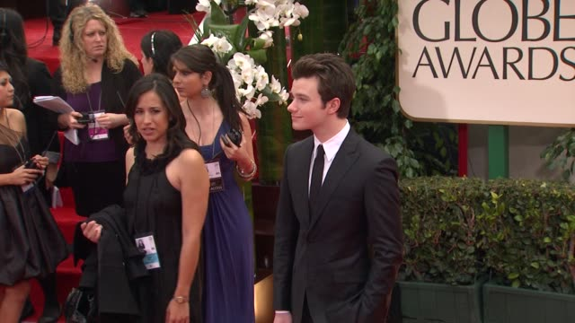 Chris Colfer at 69th Annual Golden Globe Awards Arrivals on January 15 2012 in Beverly Hills California