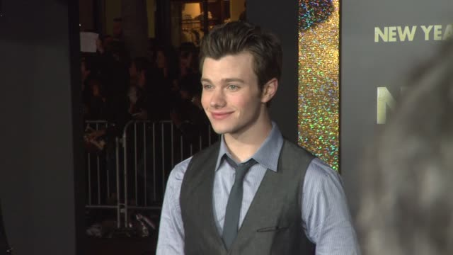 chris colfer at new year's eve world premiere on 12/5/11 in hollywood ca - chris colfer stock videos and b-roll footage