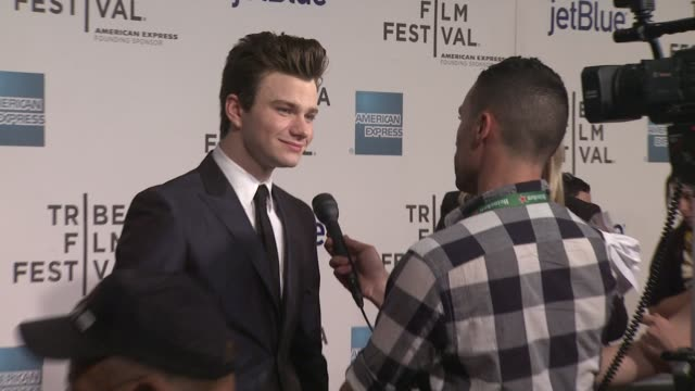 chris colfer at struck by lightning premiere 2012 tribeca film festival at bmcc tribeca pac on april 21 2012 in new york new york - chris colfer stock videos and b-roll footage