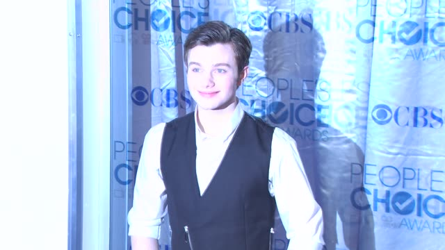 chris colfer at the 2011 people's choice awards arrivals at los angeles ca - chris colfer stock videos and b-roll footage