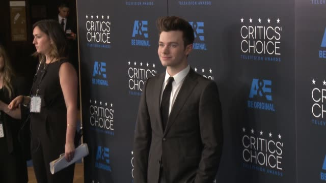 chris colfer at the 2015 critics' choice television awards at the beverly hilton hotel on may 31 2015 in beverly hills california - chris colfer stock videos and b-roll footage