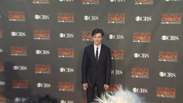 chris colfer at the 36th annual people's choice awards at los angeles ca. - people's choice awards stock videos & royalty-free footage