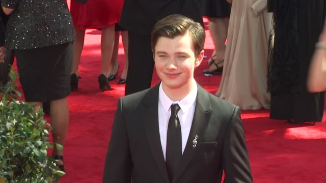 chris colfer at the 62nd primetime emmy awards arrivals at los angeles ca - chris colfer stock videos and b-roll footage