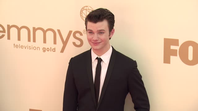 chris colfer at the 63rd primetime emmy awards arrivals part 1 at los angeles ca - chris colfer stock videos and b-roll footage