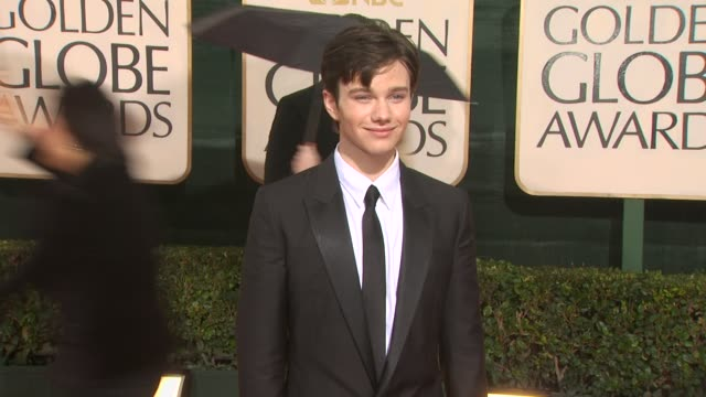 chris colfer at the 67th annual golden globe awards arrivals part 3 at beverly hills ca - chris colfer stock videos and b-roll footage
