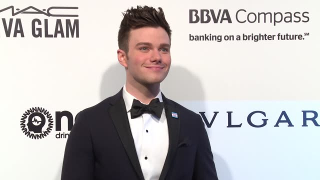 chris colfer at the elton john aids foundation presents the 25th annual academy awards viewing party on february 26 2017 in west hollywood california - chris colfer stock videos and b-roll footage