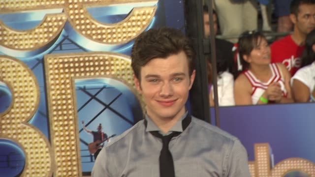 Chris Colfer at the 'GLEE The 3D Concert Movie' Los Angeles Premiere at Westwood CA