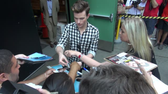 chris colfer at the 'good morning america' studio in new york ny on 07/17/12 - chris colfer stock videos and b-roll footage