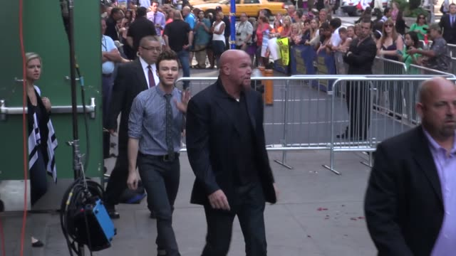 chris colfer at the 'good morning america' studio in new york ny on 8/6/13 - chris colfer stock videos and b-roll footage