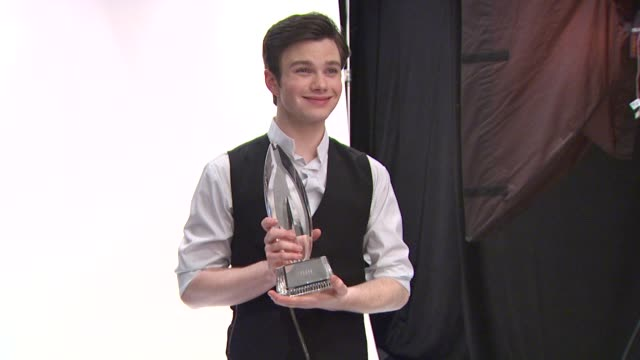 chris colfer at the people's choice awards photo booth at los angeles ca - chris colfer stock videos and b-roll footage