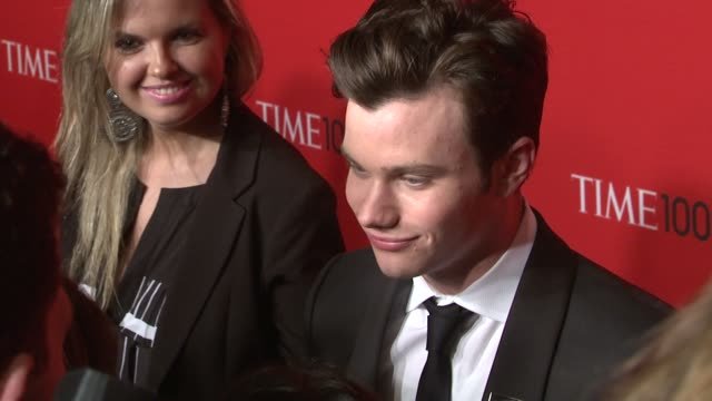 chris colfer at the time 100 gala time's 100 most influential people in the world at new york ny - chris colfer stock videos and b-roll footage
