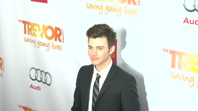 chris colfer at the trevor project's 2012 'trevor live' honoring katy perry on 12/2/12 in los angeles ca - chris colfer stock videos and b-roll footage