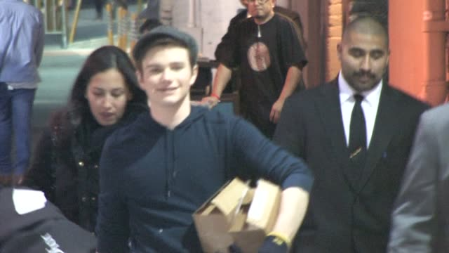 chris colfer in hollywood at the celebrity sightings in los angeles at los angeles ca - chris colfer stock videos and b-roll footage