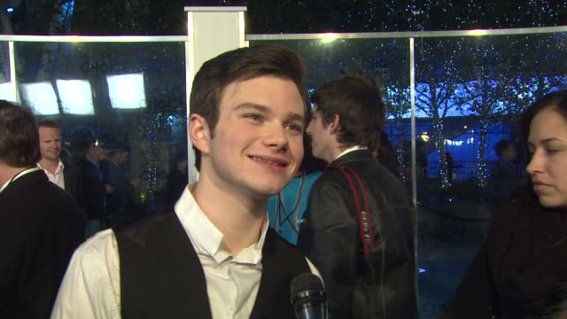 chris colfer on the event at the 2011 people's choice awards arrivals at los angeles ca - chris colfer stock videos and b-roll footage