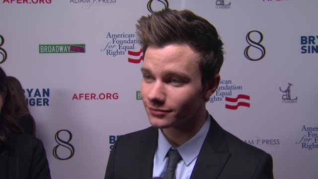 Chris Colfer on the event at The American Foundation For Equal Rights Broadway Impact Present 8 on 3/3/12 in Los Angeles CA