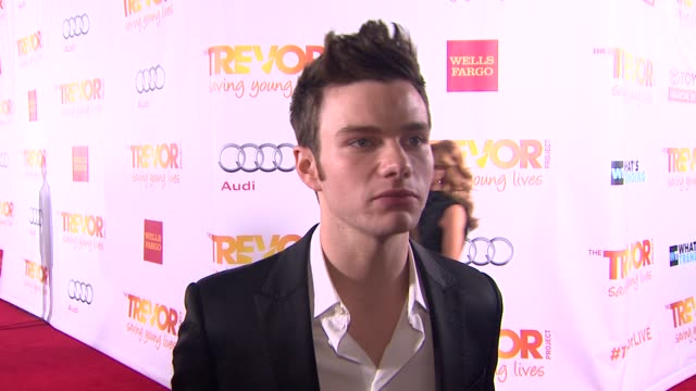 INTERVIEW Chris Colfer on what brings him out why the work of the Trevor Project is so importantwhy Jane Lynch is deserving of the honor and...