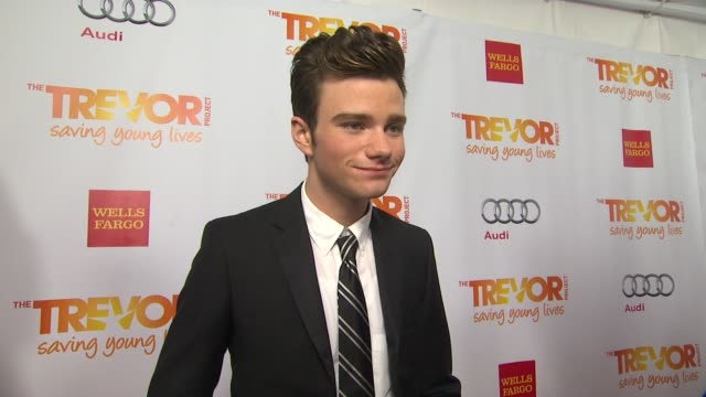 Chris Colfer on why he supports The Trevor Project how he became a supporter what he is most looking forward to tonight and why Katy deserves the...