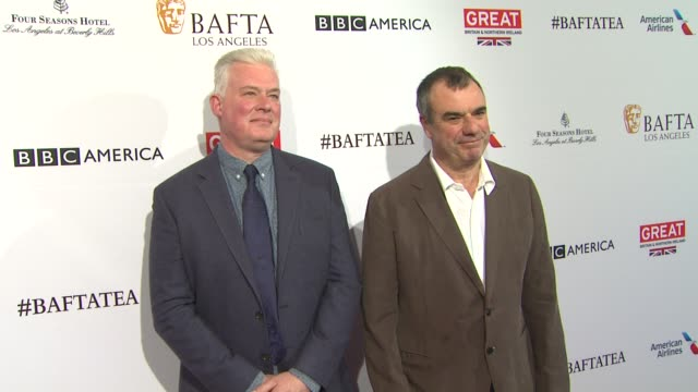 chris corbould and neal scanlan at the bafta los angeles awards season tea party at four seasons hotel los angeles at beverly hills on january 09... - tea party stock videos and b-roll footage