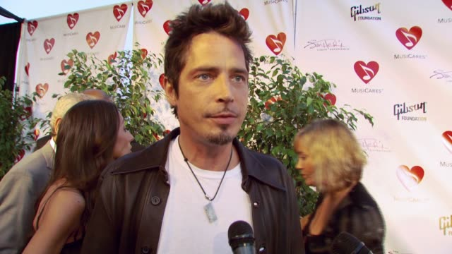 chris cornell on being honored this evening and the message he hopes to send to fans at the 3rd annual musicares map fund benefit concert at music... - musicares foundation stock videos & royalty-free footage