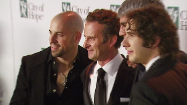 chris daughtry charles goldstuck president bmg us and wife karin goldstuck taylor hicks and josh groban at the bmg us president charles goldstuck... - josh charles stock videos and b-roll footage