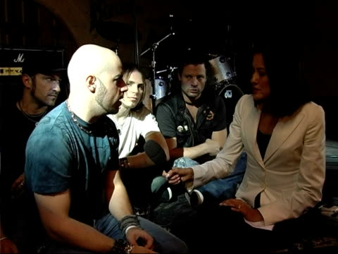 chris daughtry interview england london int chris daughtry interview sitting with rest of 'daughtry' band sot on success following american idol - american idol stock videos and b-roll footage