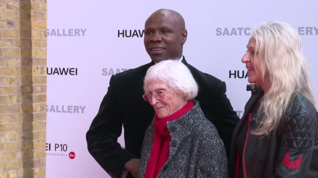 chris eubank at saatchi gallery on march 30, 2017 in london, england. - chris eubank sr. stock videos & royalty-free footage