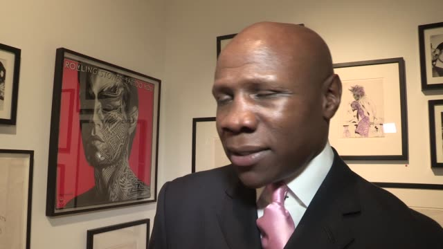 chris eubank on ronnie wood, his art, the olympics interview: chris eubank at symbolic pop-up showroom on september 05, 2012 in london, england - chris eubank sr stock videos & royalty-free footage