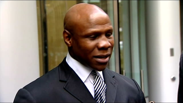 chris eubank refuses compensation deal from news international in phone hacking case; chris eubank speaking to press sot - the point i wanted to get... - chris eubank sr. stock videos & royalty-free footage