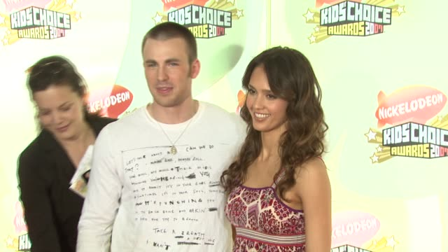 Chris Evans and Jessica Alba at the 2007 Nickelodeon's Kids' Choice Awards at UCLA's Pauley Pavilion in Los Angeles California on March 31 2007